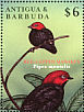 Red-capped Manakin Ceratopipra mentalis  2000 Stamp Show 2000