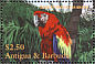 Scarlet Macaw Ara macao  2001 Vanishing species of the Caribbean 4v sheet