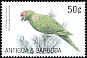 Thick-billed Parrot Rhynchopsitta pachyrhyncha  2002 Fauna and flora of the Caribbean 4v set