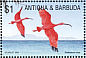 Scarlet Ibis Eudocimus ruber  2002 Fauna and flora of the Caribbean 9v sheet