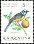 Blue-and-yellow Tanager Pipraeidea bonariensis  1967 Child welfare, birds