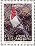 Red-crested Cardinal Paroaria coronata  1993 Paintings of birds by Axel Amuchastegui Sheet