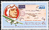 Laughing Kookaburra Dacelo novaeguineae  1984 Airmail flights