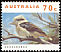 Laughing Kookaburra Dacelo novaeguineae  1993 Australian wildlife AUSTRALIA in orange