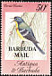 Northern Parula Setophaga americana  1984 Overprint BARBUDA MAIL on Antigua & B 1984.01
