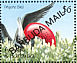 Magnificent Frigatebird Fregata magnificens  1991 Overprint BARBUDA MAIL on Antigua & B 1990.02