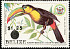 Keel-billed Toucan Ramphastos sulfuratus  1983 Surcharge on 1981.01