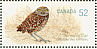 Burrowing Owl Athene cunicularia  2008 Endangered species 4v sheet