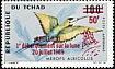 White-throated Bee-eater Merops albicollis  1970 Overprint APOLLO... on 1966-7.01