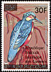 Malagasy Kingfisher Corythornis vintsioides  1979 Overprint Republique Federale� on 1978.01