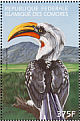 Eastern Yellow-billed Hornbill Tockus flavirostris  1999 Protection of the worlds environment 4v sheet