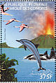 American Flamingo Phoenicopterus ruber  1999 Protection of the worlds environment 4v sheet