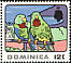 Red-necked Amazon Amazona arausiaca  1969 Tourism 8v set