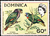 Imperial Amazon Amazona imperialis  1970 Flora and fauna 4v set