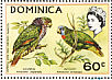 Imperial Amazon Amazona imperialis  1970 Flora and fauna 4v sheet