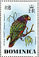 Imperial Amazon Amazona imperialis  1976 Wild birds Sheet