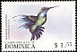 Blue-headed Hummingbird Cyanophaia bicolor  1999 Fauna 6v set