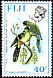 Masked Shining Parrot Prosopeia personata  1976 Birds and flowers New wmk
