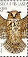 Eurasian Eagle-Owl Bubo bubo  1998 Stamp day, owls Sheet