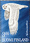Snowy Owl Bubo scandiacus  1998 Stamp day, owls Sheet