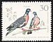Common Wood Pigeon Columba palumbus  1968 Small game 6v set