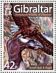 White-tailed Eagle Haliaeetus albicilla  2007 Prehistoric wildlife of Gibraltar Prestige booklet