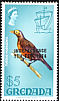 Spectacled Thrush Turdus nudigenis  1974 Overprint INDEPENDENCE... on 1968.01, 1969.01-02