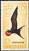 Magnificent Frigatebird Fregata magnificens  1974 Overprint GRENADINES on Grenada 1968.01, 1969.01-2