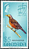 Spectacled Thrush Turdus nudigenis  1974 Overprint GRENADINES on Grenada 1968.01, 1969.01-2