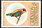 Lesser Antillean Tanager Tangara cucullata  1976 Flora and fauna 7v set