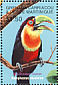 Green-billed Toucan Ramphastos dicolorus  2001 Animal life of the tropics 6v sheet