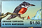 Ringed Kingfisher Megaceryle torquata  2002 Year of eco tourism 6v sheet
