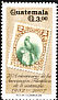 Resplendent Quetzal Pharomachrus mocinno  2007 Guatemala Philatelic Association 75 years