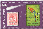 Scarlet Macaw Ara macao  1987 Overprint CAPEX 87 on 1986.01
