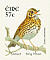 Song Thrush Turdus philomelos  2002 Birds, Song Thrush Booklet, sa, SNP