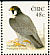 Peregrine Falcon Falco peregrinus  2003 Birds, Wagtail and Falcon Booklet