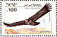 Lappet-faced Vulture Torgos tracheliotos  1985 Biblical birds Sheet, s 33x23mm