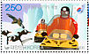 Gentoo Penguin Pygoscelis papua  2008 Antarctic station Sheet with 5 each