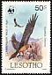 Bearded Vulture Gypaetus barbatus  1986 Flora and fauna of Lesotho 8v set