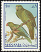Blue-backed Parrot Tanygnathus sumatranus