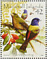 Painted Bunting Passerina ciris  2008 Colourful birds of the world Sheet