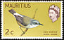 Mauritius Grey White-eye Zosterops mauritianus  1968 New colours