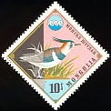 Northern Lapwing Vanellus vanellus  1974 Protection of water and nature 7v set