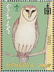 Western Barn Owl Tyto alba  2001 Scouting and nature 9v sheet