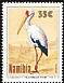 Yellow-billed Stork Mycteria ibis  1994 Birds of Etosha - Storks