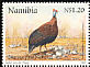 Helmeted Guineafowl Numida meleagris  1997 Greetings stamp