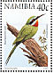 Blue-cheeked Bee-eater Merops persicus  1998 Flora and fauna 18v booklet