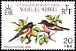 Pacific Robin Petroica pusilla  1980 Birds, French issue