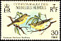 Vanuatu White-eye Zosterops flavifrons  1980 Birds, French issue