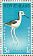 White-headed Stilt Himantopus leucocephalus  1959 Health stamps 2 sheets